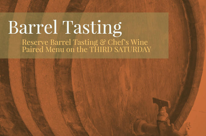 Barrel Tasting Experience