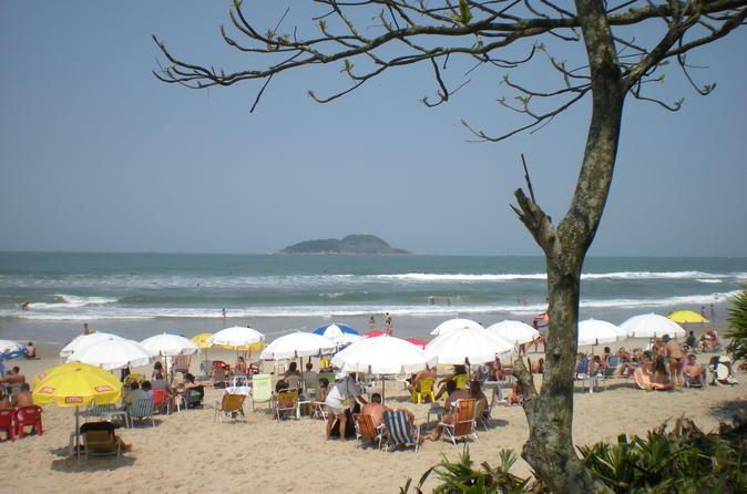 Excursão privada: café e viagem diurna para as praias de São Paulo