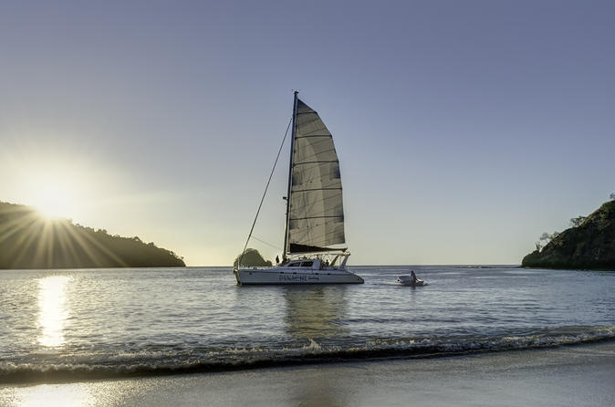 Sunset Catamaran  Sailing at Flamingo Beach