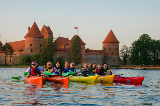 Sunset kayak tour in trakai from vilnius in trakai 332456