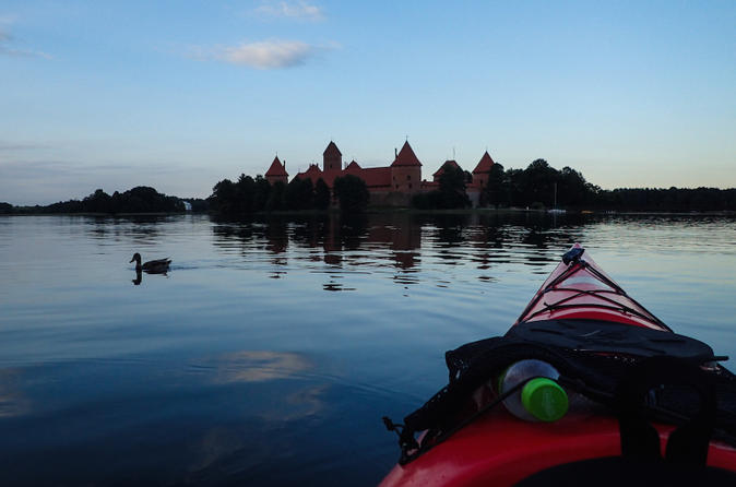 Sunset kayak tour in trakai in trakai 210245