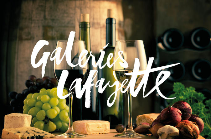 French wine tour at Galeries Lafayette