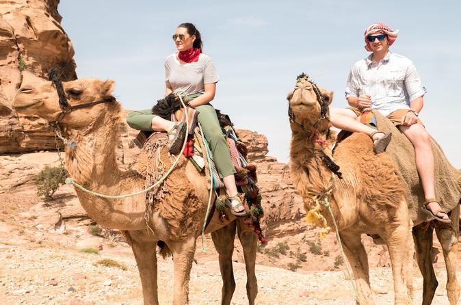 Exclusivo Camel Trek y Back Hike Entrada a Petra, Jordania