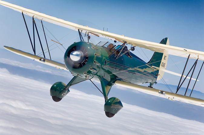 Biplane rides over monterey bay from watsonville in watsonville 230115