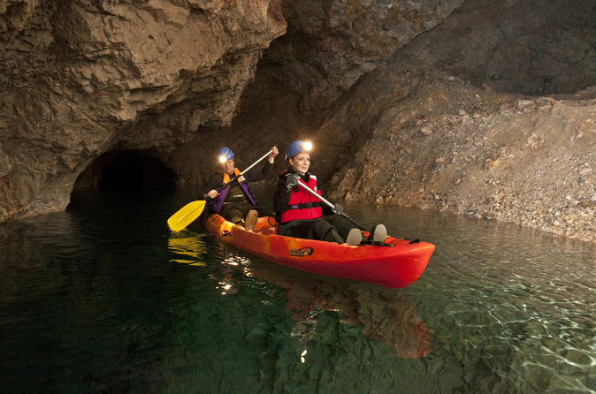 Kayaking day activity in underground mines from bled in bled 215938