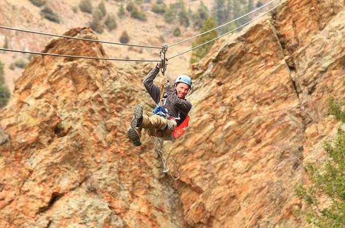Idaho springs cliffside zipline and freefall in idaho springs 238734