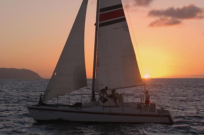 Sunset Catamaran Cruise on Oahu's North Shore