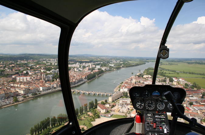 Private panoramic helicopter tour of macon southern burgundy in m con 225488