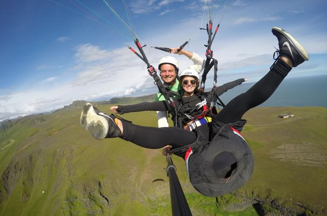 Tandem paragliding flights from vik in vik 226348