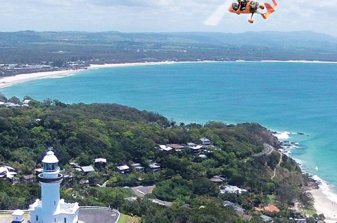 Byron Bay Gyrocopter Flight plus Cape Byron Lighthouse Crystal Castle and Bangalow Tour