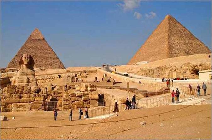 Excursão com paradas saindo do Cairo para as pirâmides, esfinge, Cidadela, Mesquita de Alabastro, Museu Egípcio e Khan el-Khalili com almoço