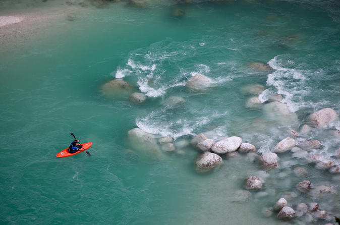 Guided kayak descent on soca river from bovec in bovec 286490