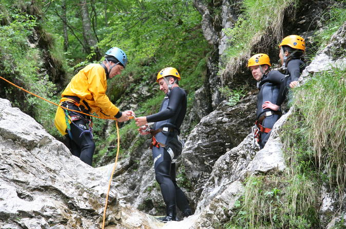 Canyoning In The Fratarica Canyon Of Soca Valley 2018