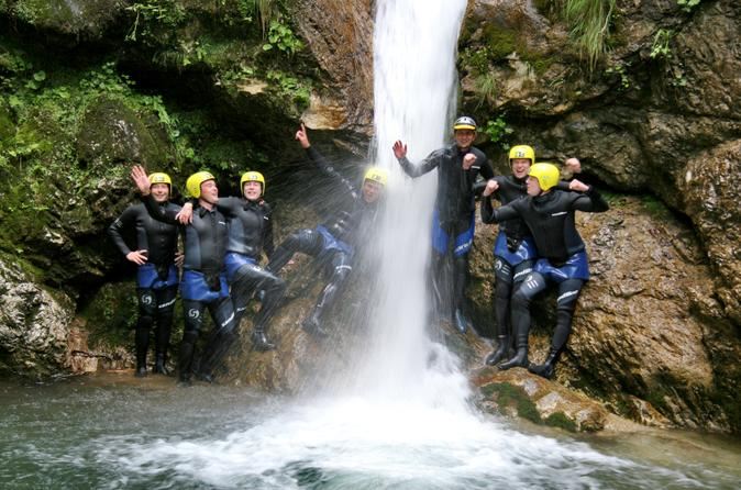Bovec Canyoning In The Susec Canyon Of Soca Valley Slovenia Europe
