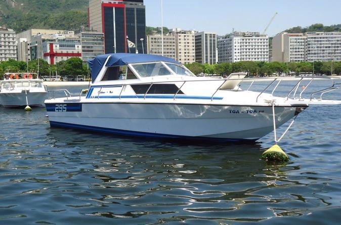 Excursão particular para grupos pequenos em barco a motor no Rio de Janeiro