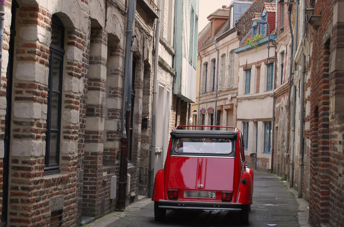 Unique Tour of Lille by convertible 2CV with your Private Driver-Guide including Champagne Break