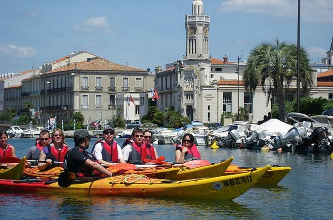 3 hour sea kayak trip in the canals of sete in s te 224178