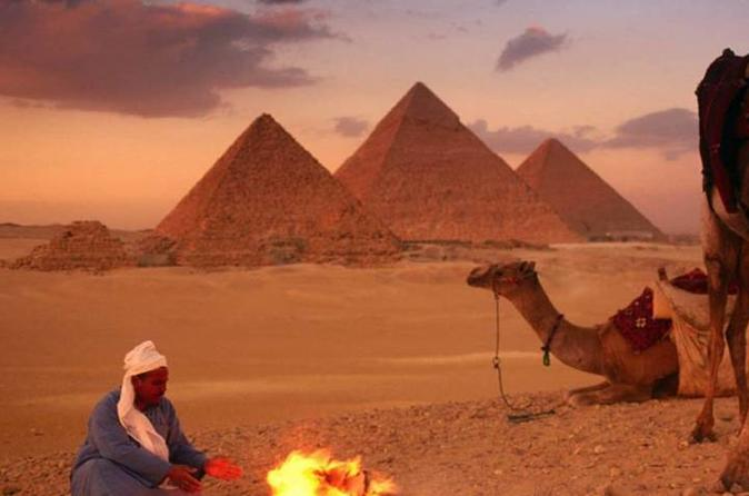 Full day private tour to Giza Sphinx Egyptian museum and camel ride at sunset