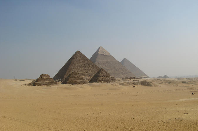 Private Guided Tour for Families to Saqqara Dahshur and Giza including Camel Ride and Lunch from Cairo