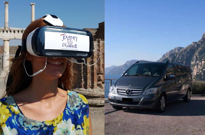 Naples airport-port-train station transfer & Pompei Guided Tour with VR Headsets