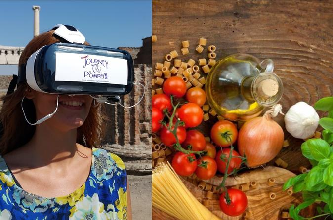 Sorrento Cooking Class & Pompeii Guided Tour with VR Headsets