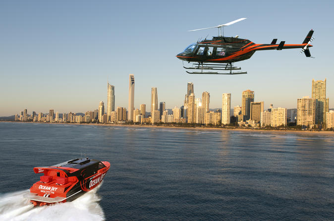 Gold Coast Combo Ocean JetBoat Ride And Helicopter Flight  Viator