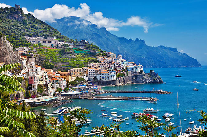 Private transfer from the Amalfi Coast to Naples including 2-3 hrs stop
