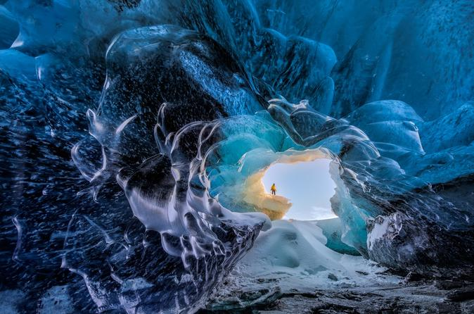 2-Day Crystal Ice Cave and South Coast Experience from Reykjavik