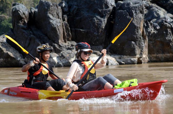 2-Day Mekong River Kayaking Tour including Village Homestay from Luang Prabang