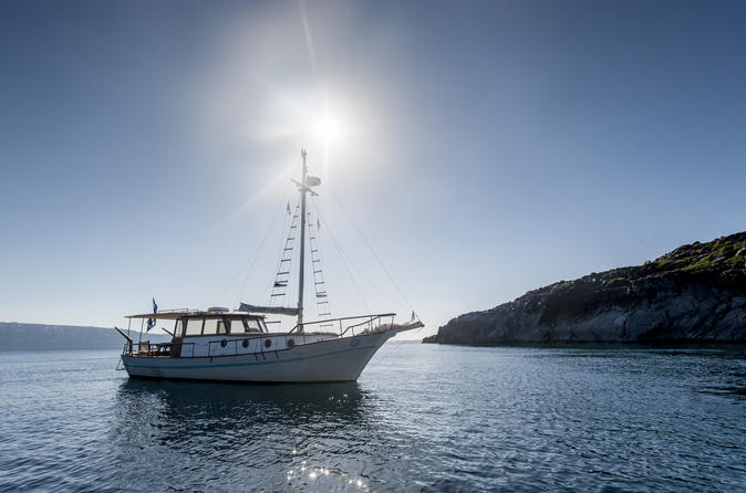 Caldera traditional boat day cruise in thera 235993