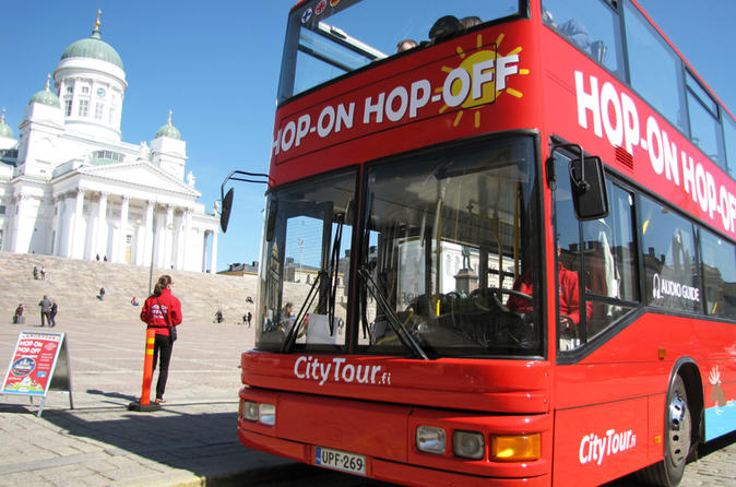 Helsinki Red Bus 24h Hop-On Hop-Off Ticket