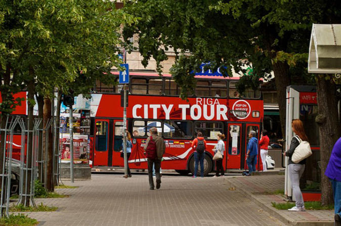 Riga red bus 24h hop on hop off ticket in r ga 250431