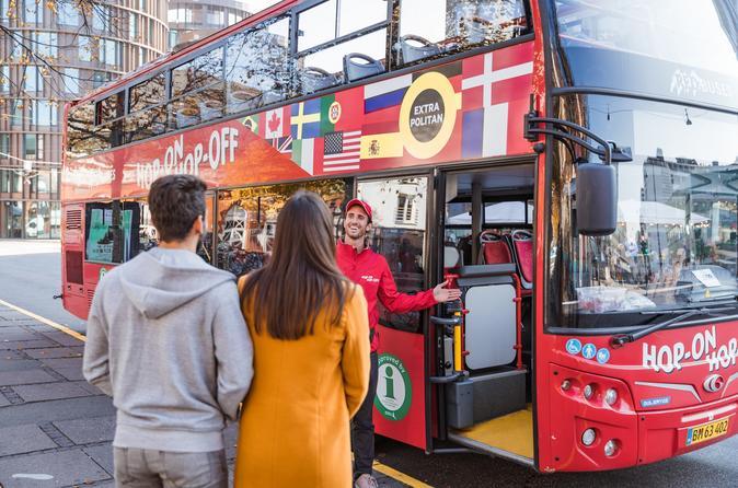 Excursão pelo litoral: Copenhague em ônibus vermelho com várias paradas