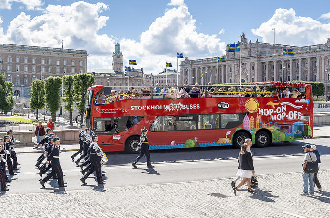 Stockholm red bus 24h hop on hop off ticket in stockholm 231186