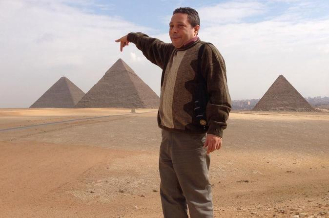 Half Day Trip to Giza Pyramids and The Sphinx with Entrance Fees Included