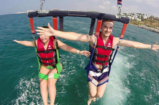 Aventura de parasailing em Punta Cana com encontro com tubarões e arraias