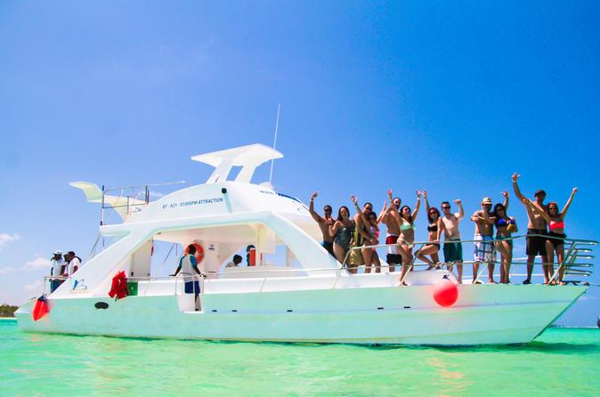 Private catamaran reef snorkel and natural swim pool from punta cana in punta cana 262108