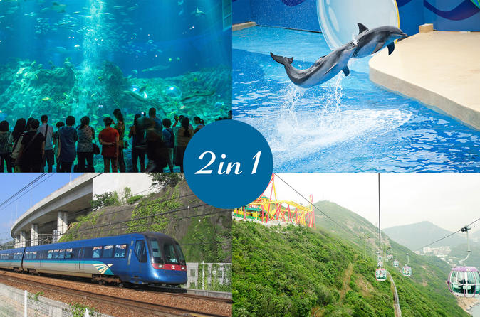 E-Ticket Combo: Airport Express plus Ocean Park Admission Ticket in Hong Kong