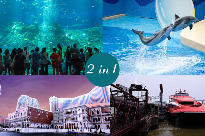 E-Ticket Combo: Hong Kong Ocean Park plus 2-Way HKG to Macau Turbojet Tickets
