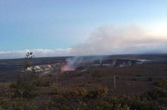 Full-Day Waterfall and Twilight Red Lava Glow Viewing Tour from Kona