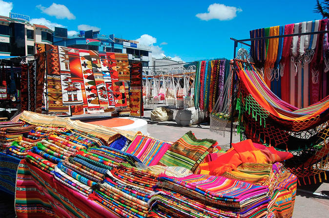 otavalo marketplace and cuicocha lake from quito