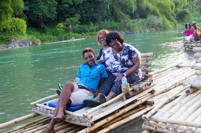 Rio Grande Rafting with Blue Lagoon and Monkey Island from Kingston