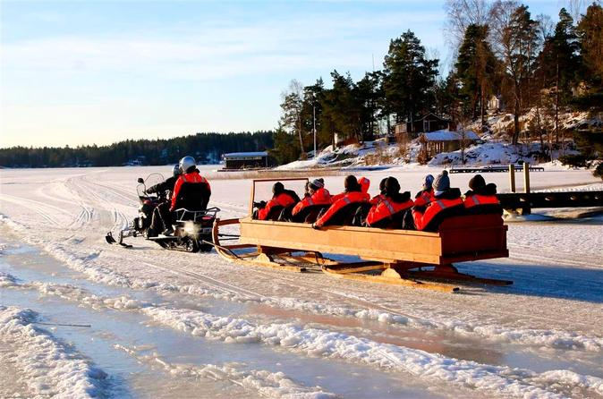 Private Snowmobile Sleigh Tour in Helsinki Archipelago Including Lunch