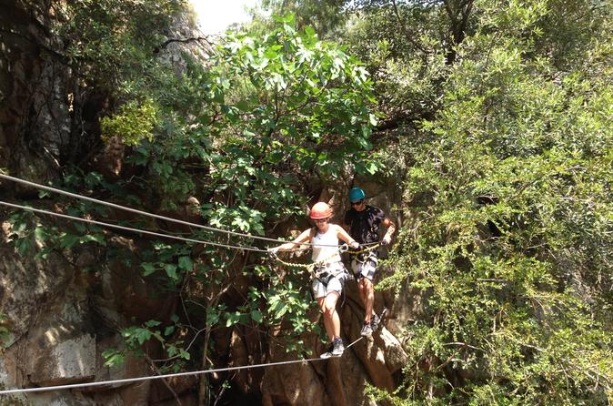 2Hour Kid Session of Via Ferrata-Tyrotrekking in Corsica