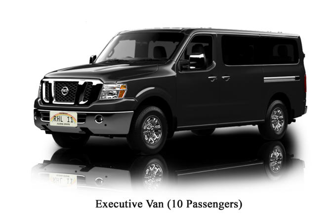 Executive Private Van Service from Honolulu International Airport to Waikiki Hotels