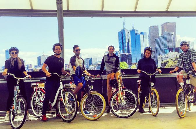 Melbourne Bike Tour with Coffee and Drinks Including Yarra River and Southbank