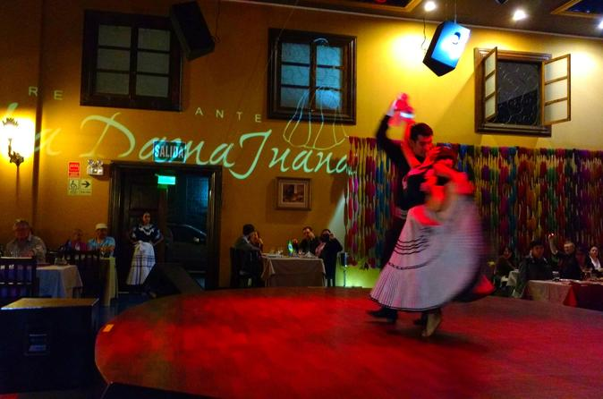 Private Dinner Buffet and Typical Peruvian Show in Lima Including Visit to Barranco District
