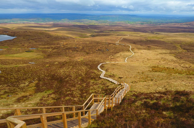 Full-Day Cuilcagh Legnabrocky Trail and Stairway to Heaven Hike from Dublin