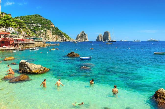 Excursão diurna em Capri e Gruta Azul saindo de Nápoles ou Sorrento