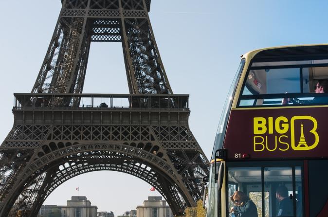 2 Days Big Bus Hop-On Hop-Off Tour & Louvre Admission